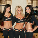 Anaheim Ducks NHL ice girls