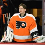 Carter Hart wins NHL debut with 20 saves